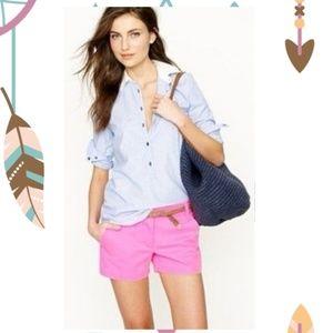 J Crew Neon Pink Broken-in Chino Shorts